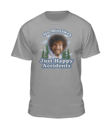 Bob Ross No Mistakes Just Happy Accidents T-Shirt