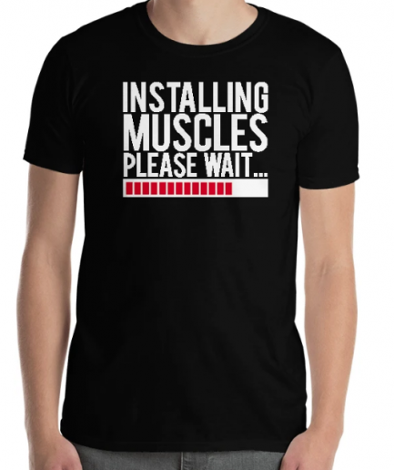 Body Building Installing Muscles Fitness T-Shirt For Men