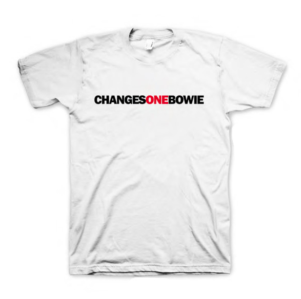 CHANGESONEBOWIE White T-Shirt For Men's