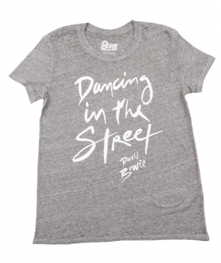 David Bowie Dancing In The Street Gray T-Shirt