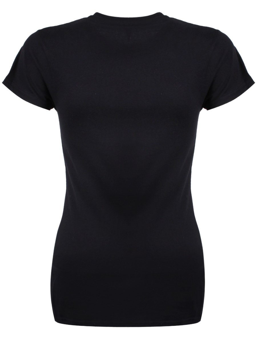 I'm Out Of Bed And Dressed Ladies Black T-shirt
