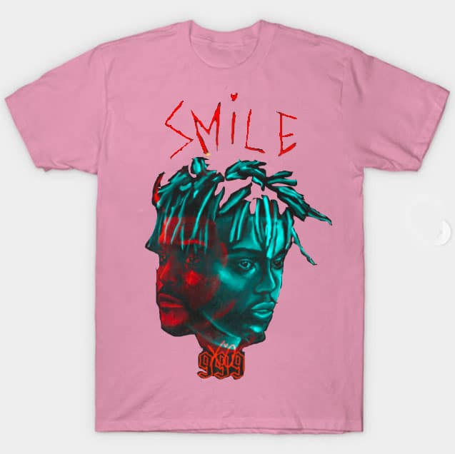 Juice WRLD X The Weekend Smile 999 Pink T-Shirts