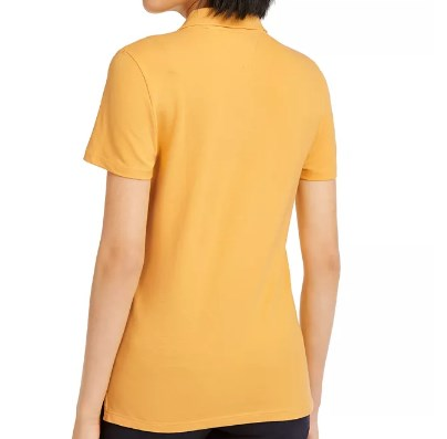 Logo Embroidered Polo Yellow T-Shirt