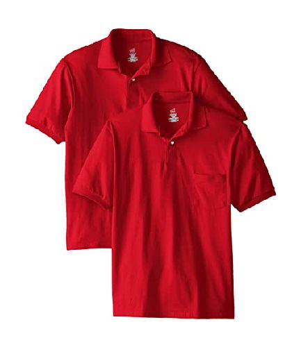 Men's Short Sleeve Polo Red Shirts