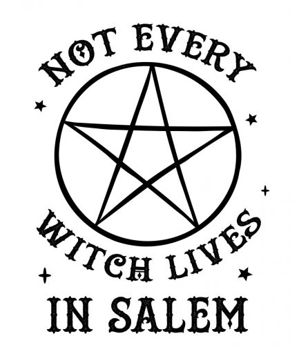 NOT EVERY WITCH LIVES IN SALEM Ladies White T-Shirt