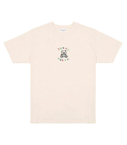 New Teddy Fresh Embroidered classic Off White T-Shirts