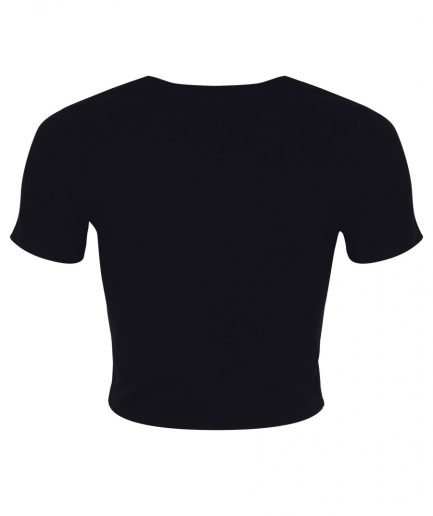 Spooky Touch Black Crop Top