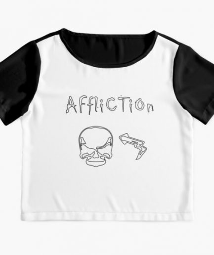 Affliction White And Black T-Shirt