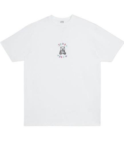 Teddy Fresh Embroidered TF White T-Shirt