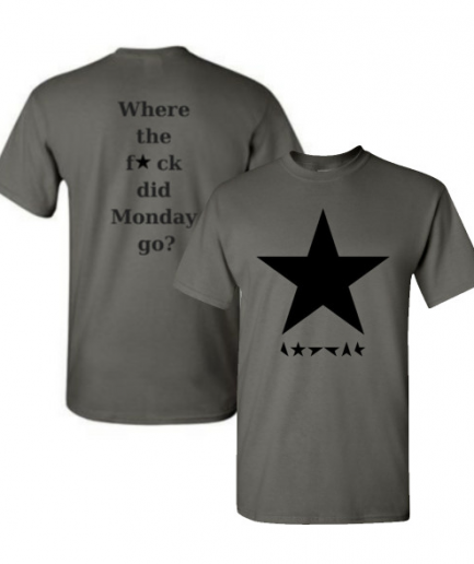 Where The Fck Did Monday Go Gray T-Shirt For Men's