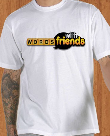 Words With Friends White T-Shirt For Men's