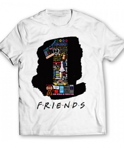 1 Friends Printed Graphic white T-Shirt For Men