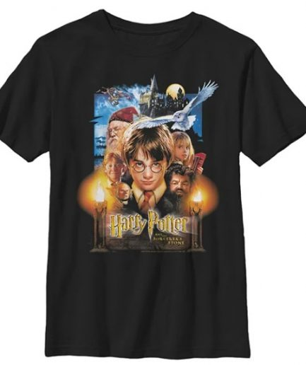 Harry Potter And The Sorcerer's Stone Poster Graphic Black Tee