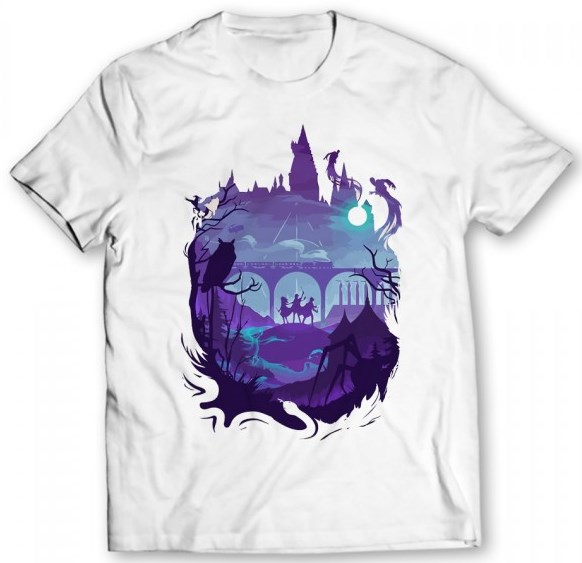 Harry Potter Printed Graphic White T-Shirt