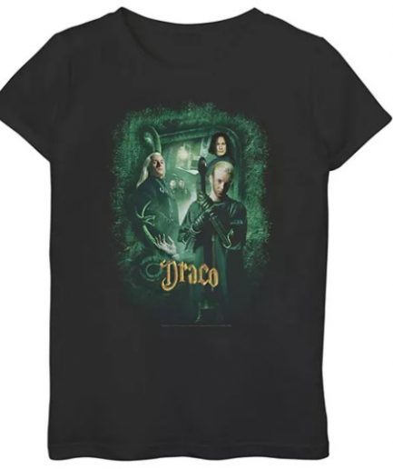 Harry Potter and The Chamber Of Secrets Draco Black Tee