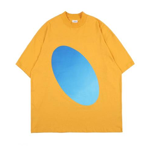 Kanye West Oversize 3D Printed Yellow T-Shirt For Men