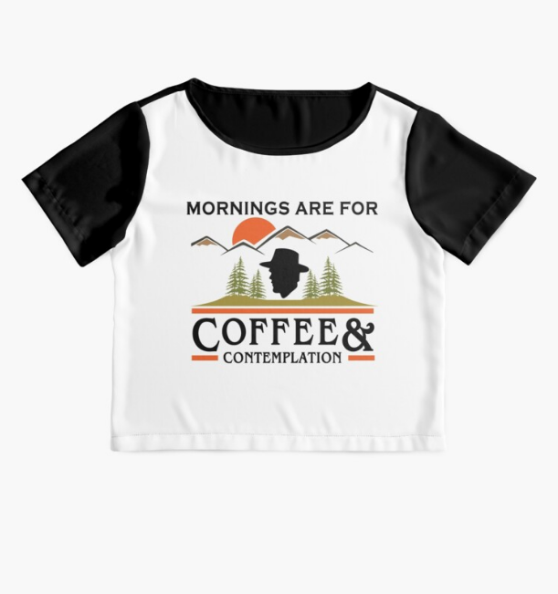 Mornings Are For Coffee And Contemplation Black T-Shirt