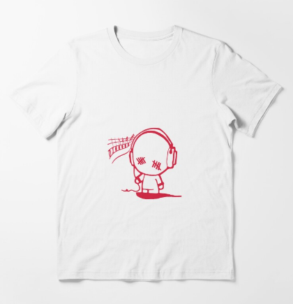 Music Man Essential T-Shirt White For Men and Women