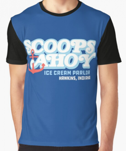 Scoops ahoy ice cream Classic Blue T-Shirt for Men