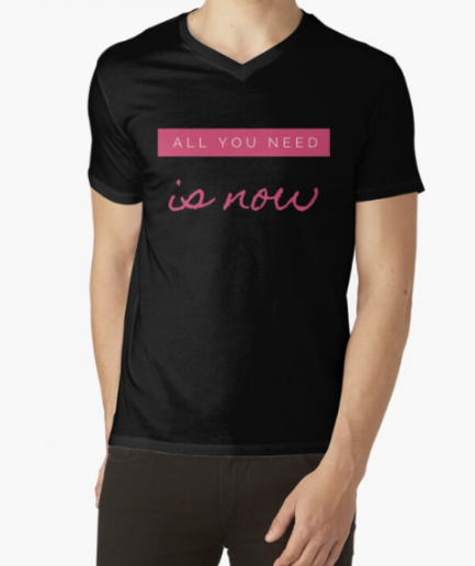 All You Need Is Now Fitness Black T-Shirt