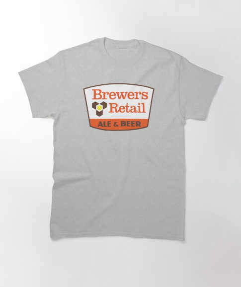 Brewers Retail Ale & Beer Gray T-Shirt