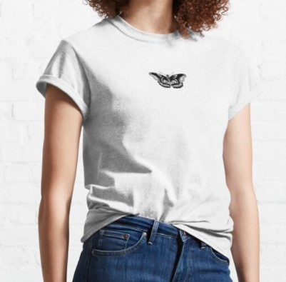 Butterfly Harry Styles White T-Shirt
