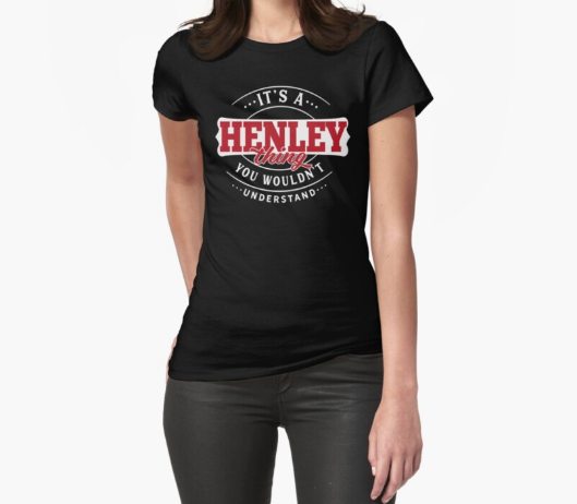 It's a Henley Thing You Wouldn't Understand Black T-Shirt For Women's