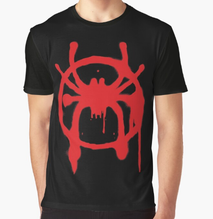 Into the Spider-Verse Black T-Shirt For Men's