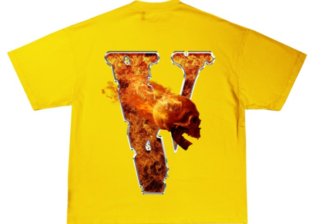 Juice Wrld x Vlone Inferno Tee Yellow for Adults