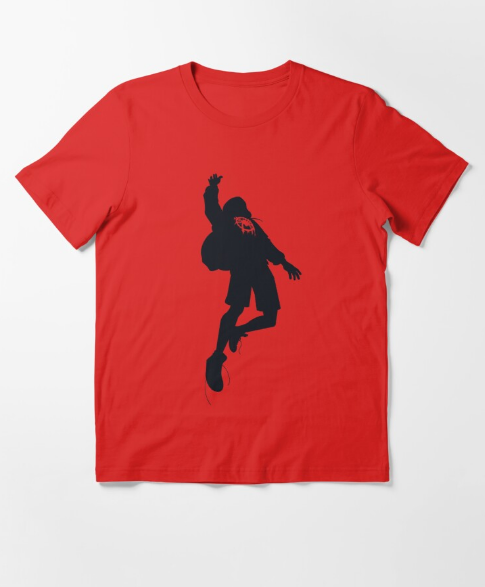 Miles Morales Into the Spiderverse Red T-Shirt