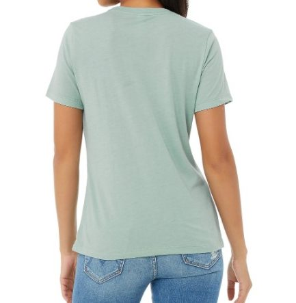 New Women's Relaxed Triblend Short Sleeve Tee