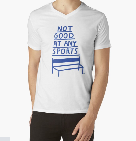 Not Good At Any Sports Fitness White T-Shirt for Men