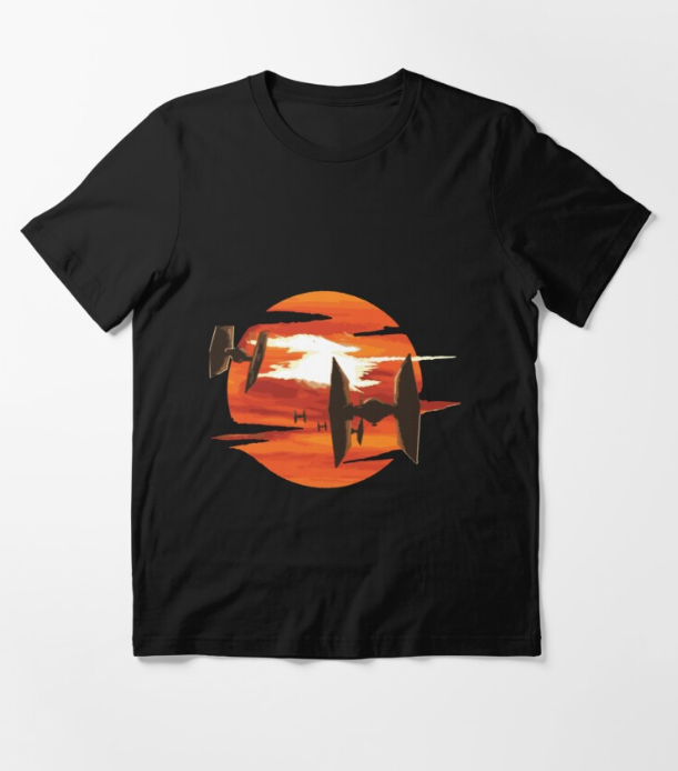 Ride of the Tie fighters Black T-Shirt