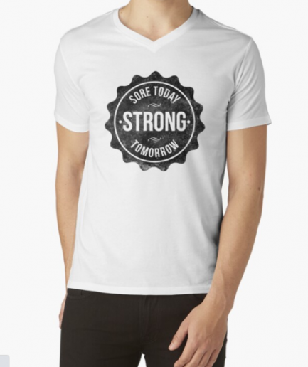 Sore Today Strong Tomorrow White T-Shirt for Men