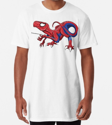 The Amazing Spideraptor White T-Shirt for Men