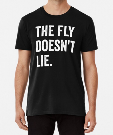 The Fly Doesn't Lie Black T-Shirt For Men's