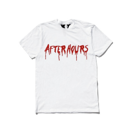 The Weeknd x Vlone After Hours Blood Drip White T-Shirt