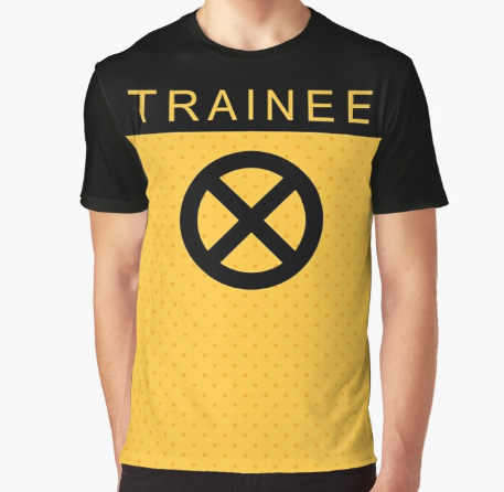 Trainee X Force Fitness Graphic Black T-Shirt For Men