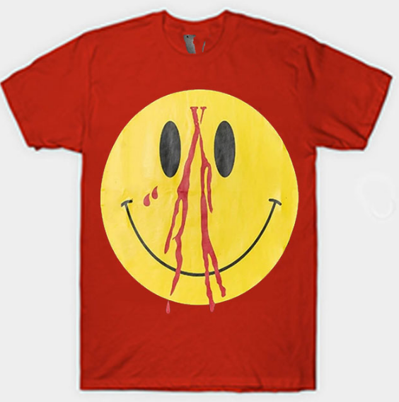 Vlone Smiley Face Unisex Clothing Red T-Shirt