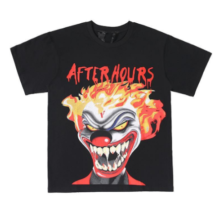 Vlone Weeknd After Hours If I OD Clown Black Tee