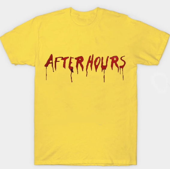 The Weeknd x Vlone After Hours Blood Drip Yellow T-Shirt