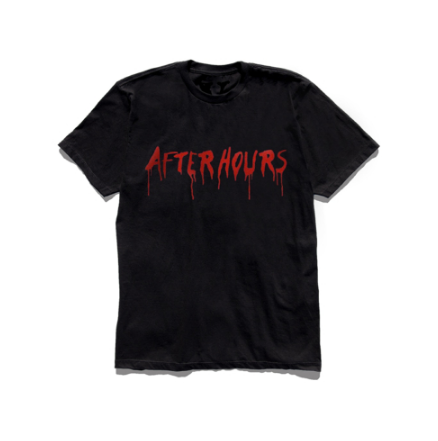 The Weeknd x Vlone After Hours Blood Drip Black T-Shirt