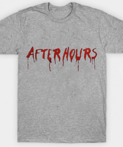 The Weeknd x Vlone After Hours Blood Drip Gray T-Shirt