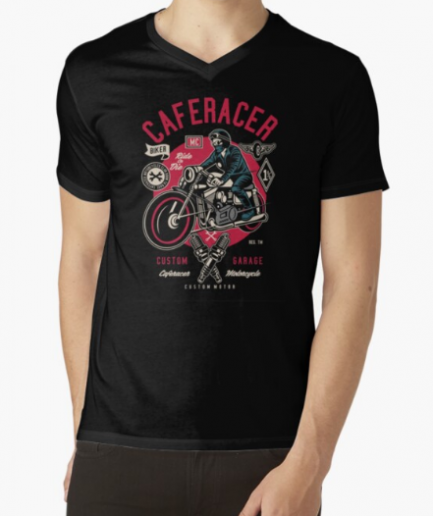 Cafe Racer Motorcycle Men Classic T-Shirt
