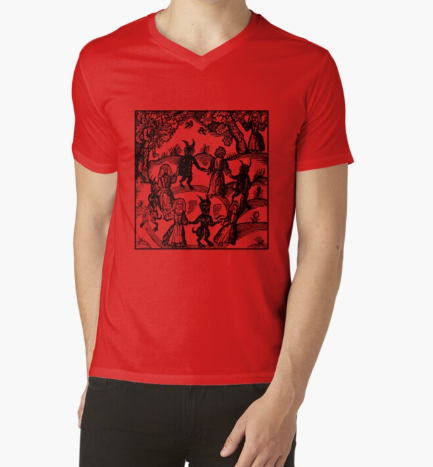 Dance with the Devil Red T-Shirt For Men