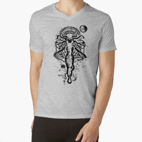 Darkhold Witch of Chaos V-Neck Gray T-Shirt