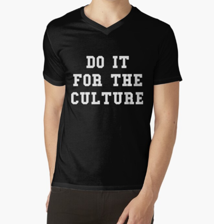 Do it for the Culture Black T-Shirt