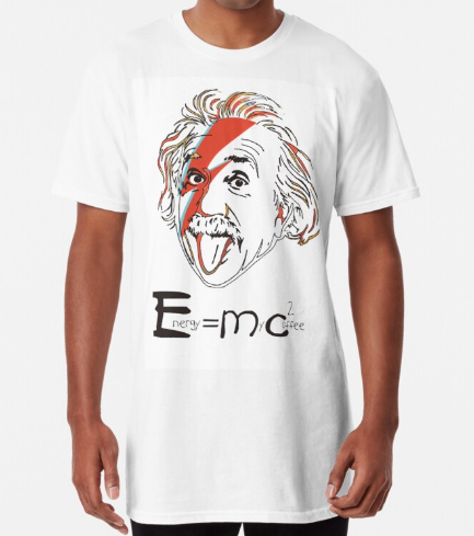 Energy is my Coffee White Long T-Shirt