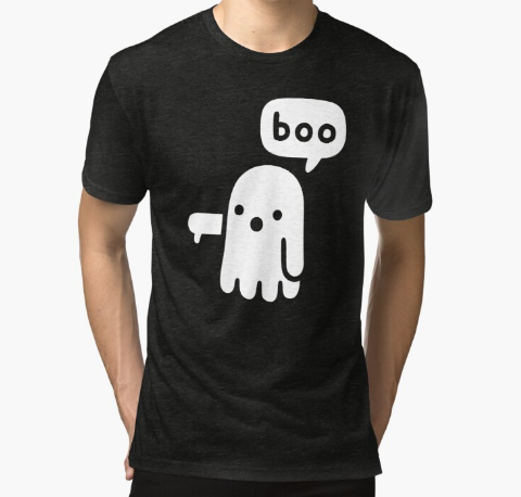 Ghost Of Disapproval Tri-blend Black T-Shirt