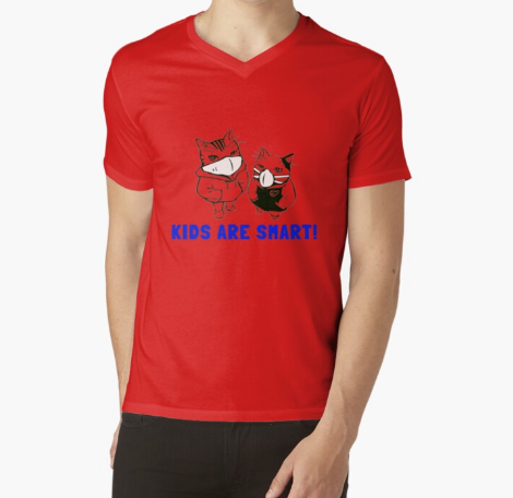 Kids Are Smart for Cat lovers Red T-Shirt